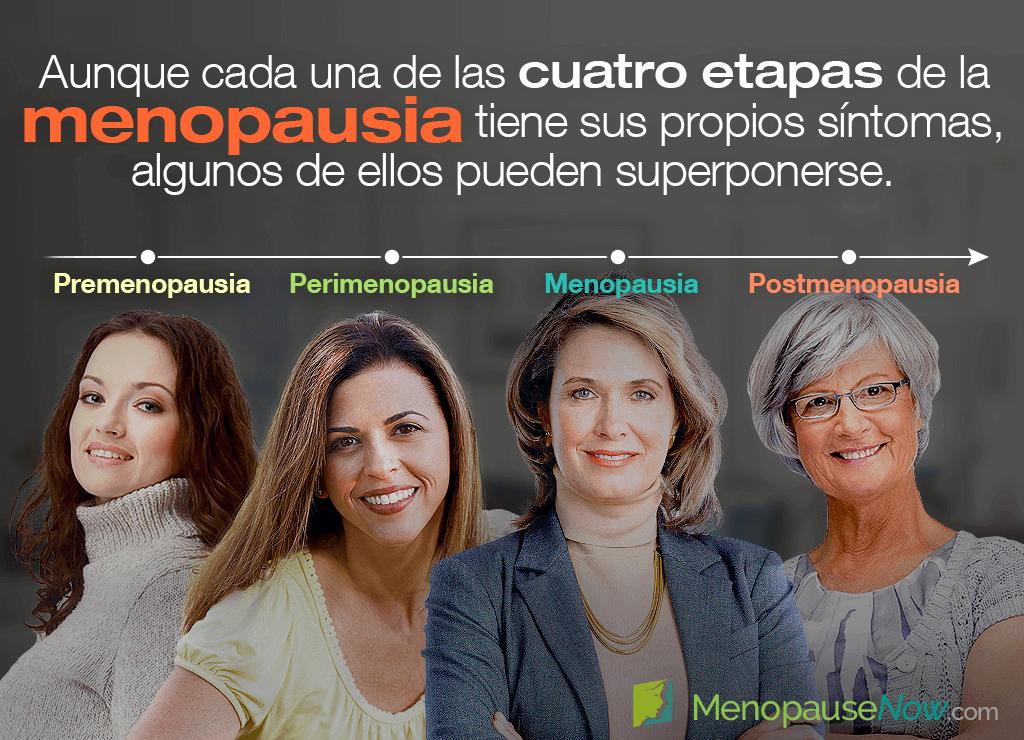 Las cuatro etapas de la menopausia y sus síntomas