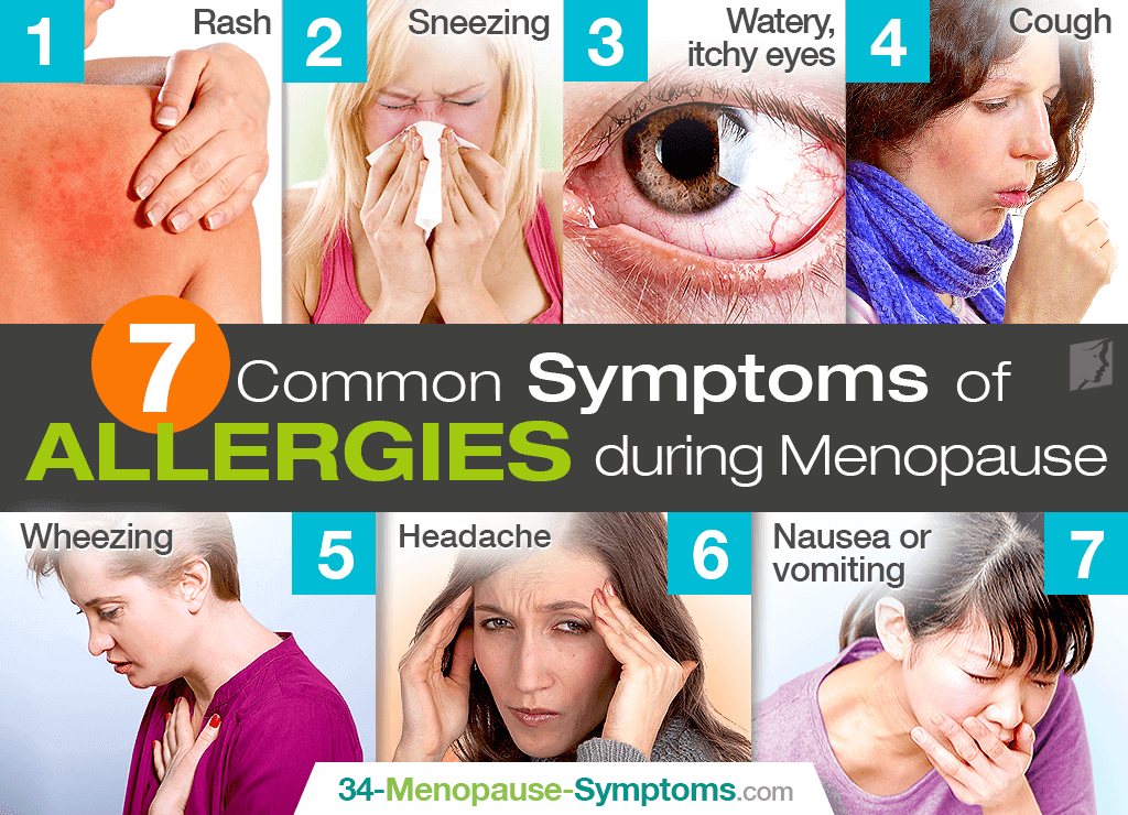 menopause allergy symptoms