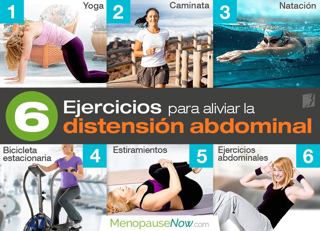 6 ejercicios para aliviar la distensión abdominal