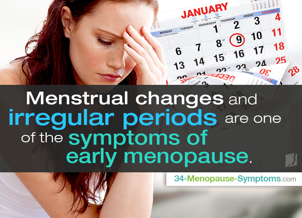 Early Menopause Symptoms Entering Menopause