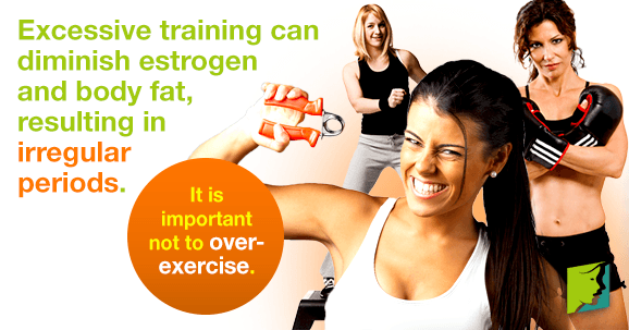 Too much exercise can result in irregular periods