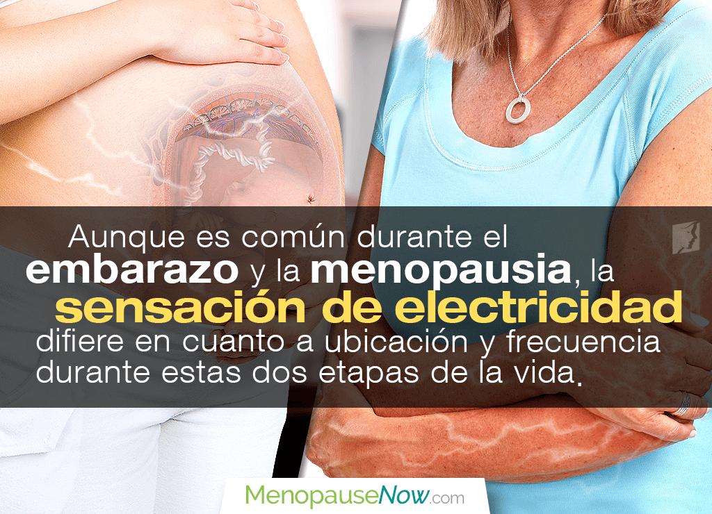 Sensación de electricidad en el embarazo y la menopausia