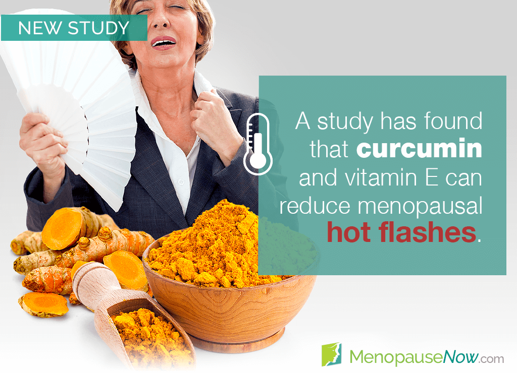 Study: Curcumin and vitamin E shown to reduce hot flashes