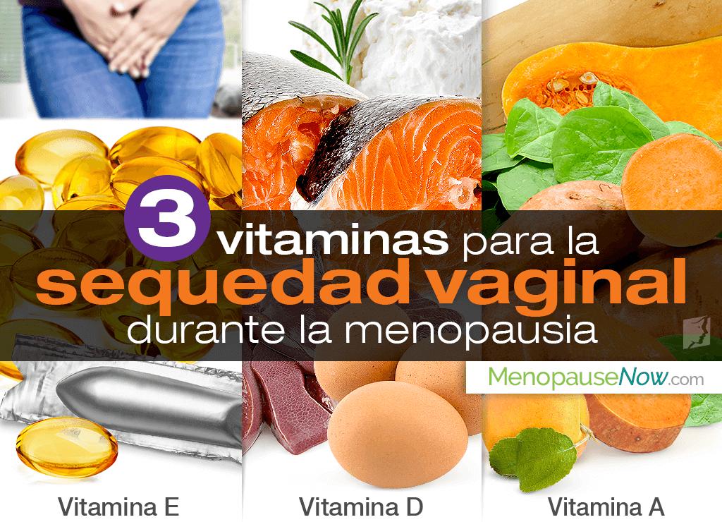 3 vitaminas para la sequedad vaginal durante la menopausia