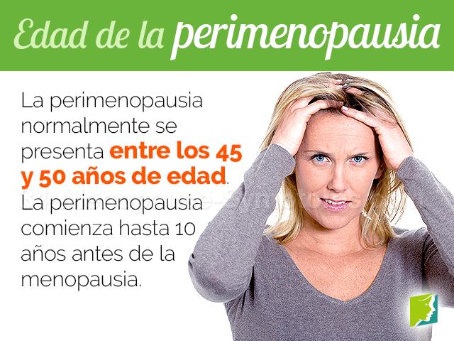 Edad de la perimenopausia