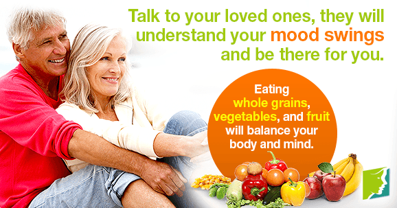 Talk to your loved ones, they will understand your mood swings and be there for you.