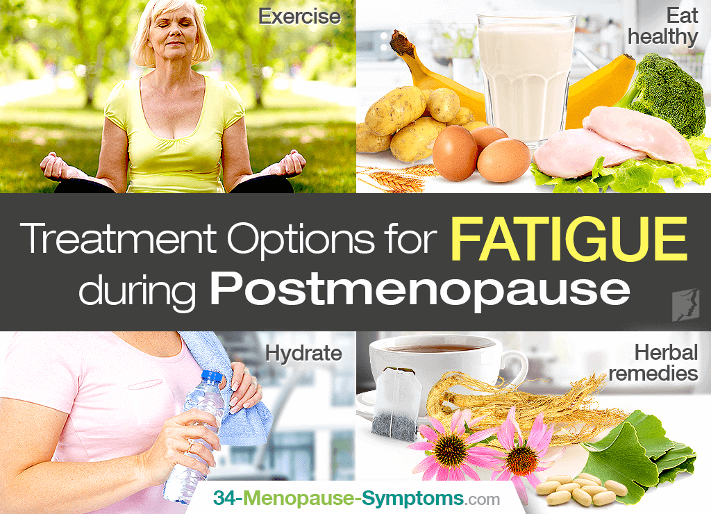 Treatment options for fatigue during postmenopause
