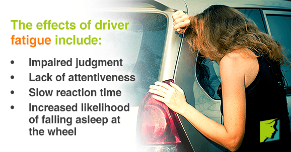 Fatigue in drivers can have several consequences