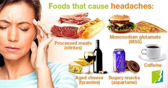 Foods that cause headaches: