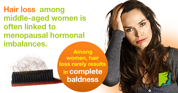 Hair Loss in Healthy Middle Age Woman