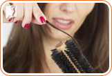 Extracting hair of a comb: many women report thinning hair during menopausal years