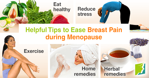Helpful tips to ease breast pain during menopause