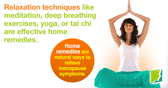 Home remedies are natural ways to relieve menopause symptoms