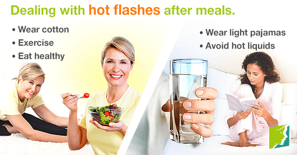 Dealing with Hot Flashes After Meals