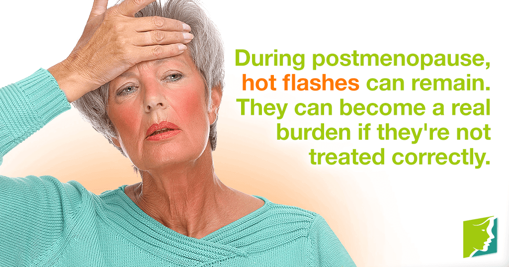 Hot flashes after menopause are a significant problem