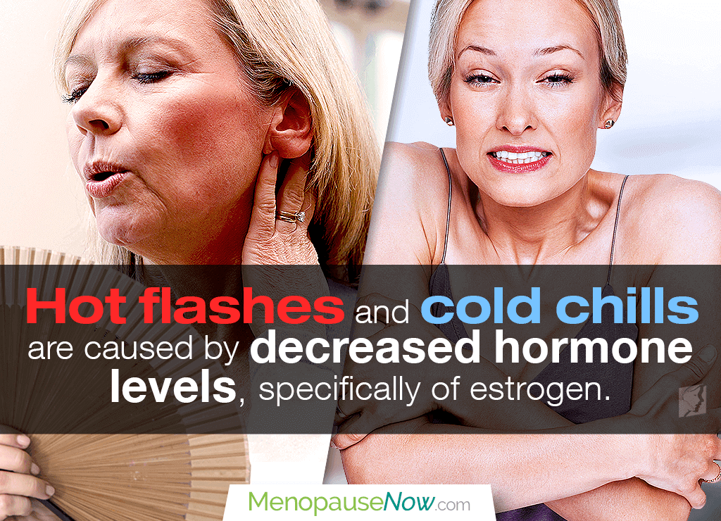 Hormonal fluctuations can cause hot and cold flashes