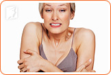 As the body begins to cool down, women often experience chills, cold feet, and begin shivering.