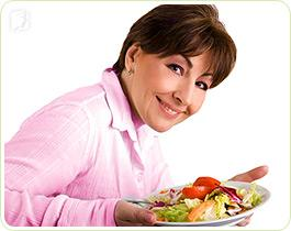 Eat a balanced diet can help alleviate many hot flashes symptoms