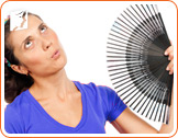 Use a portable hand fan to refresh yourself.