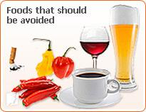 Foods that should be avoided