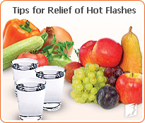 Tips for relief of hot flashes