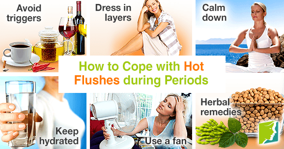 How to cope with hot flushes during periods