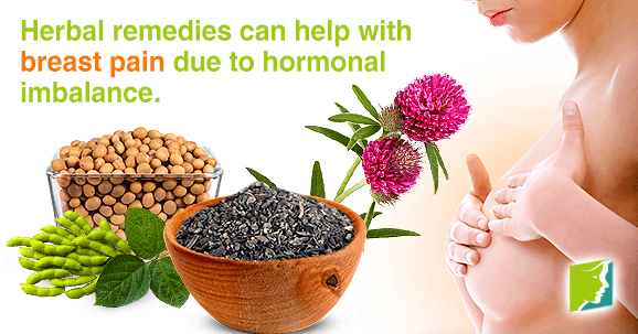 Herbal remedies can help with breast pain due to hormonal imbalance