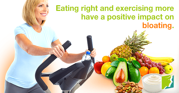 Eating right and exercising more have a positive impact on bloating