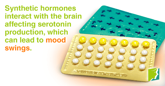 Birth control pills affects the balance of natural hormones