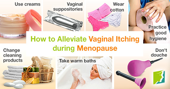 How to alleviate vaginal itching during menopause.