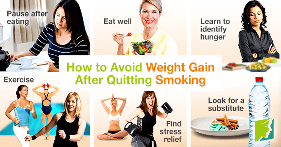 How to avoid weight gain after quitting smoking.