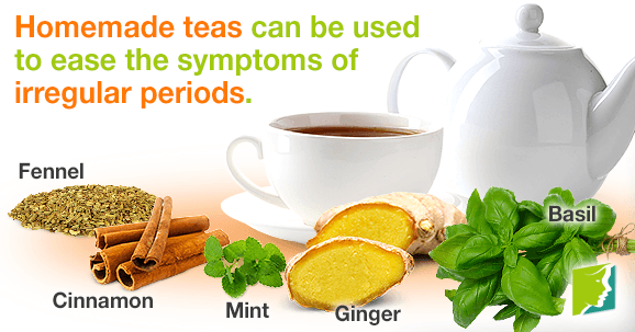 Homemade teas will help with the multiple symptoms that affect women