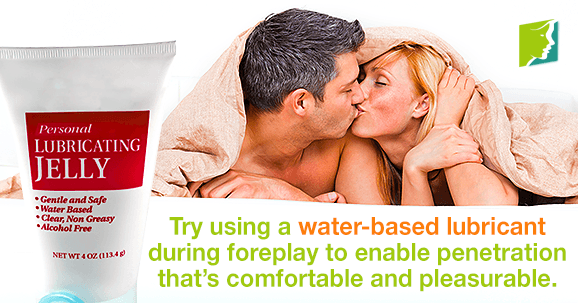 Try a water-based lubricant into foreplay to enable penetration that's comfortable and pleasurable.