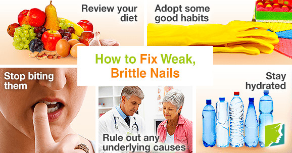Hot to fix weak, brittle nails