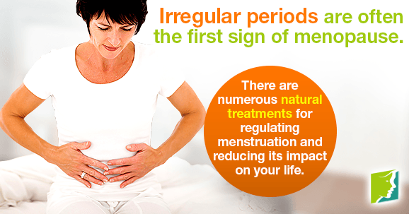 Irregular periods are often the first sign of menopause