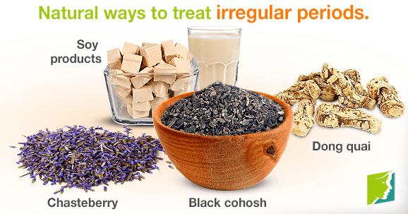 Natural ways to treat irregular periods