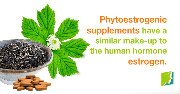 Phytoestrogenic supplements have a similar make-up to the human hormone estrogen.