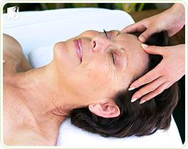 Woman getting a massage to combat irregular periods