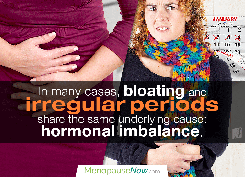 Irregular periods and bloating can also be linked to endometriosis