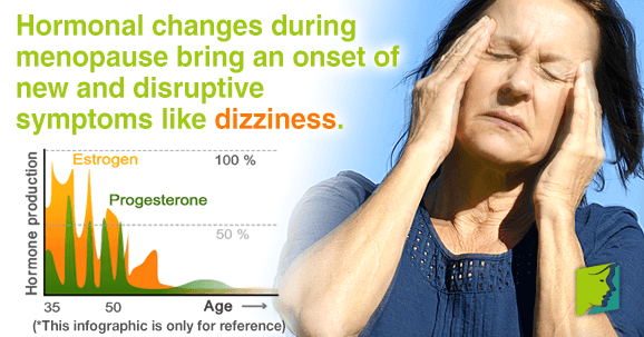 Hormonal changes bring new and disruptive symptoms like dizziness