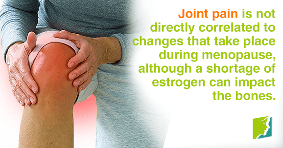 Joint pain is indirectly correlated to menopause