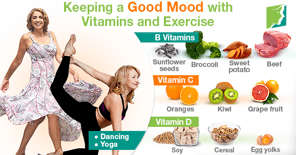 Keeping a Good Mood with Vitamins and Exercise