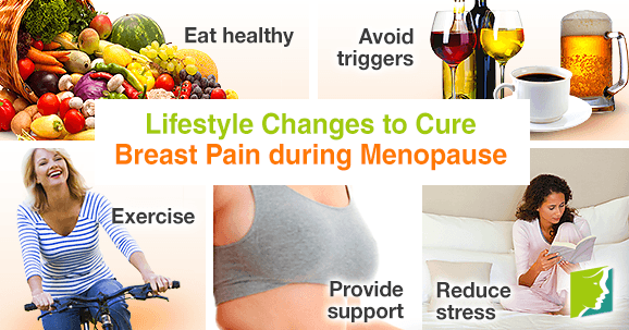 Lifestyle changes to cure breast pain during menopause