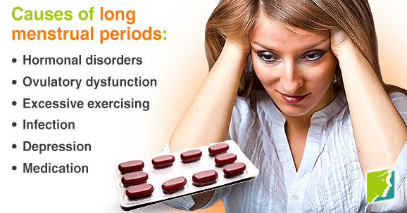 Long menstrual periods can be uncomfortable and painful