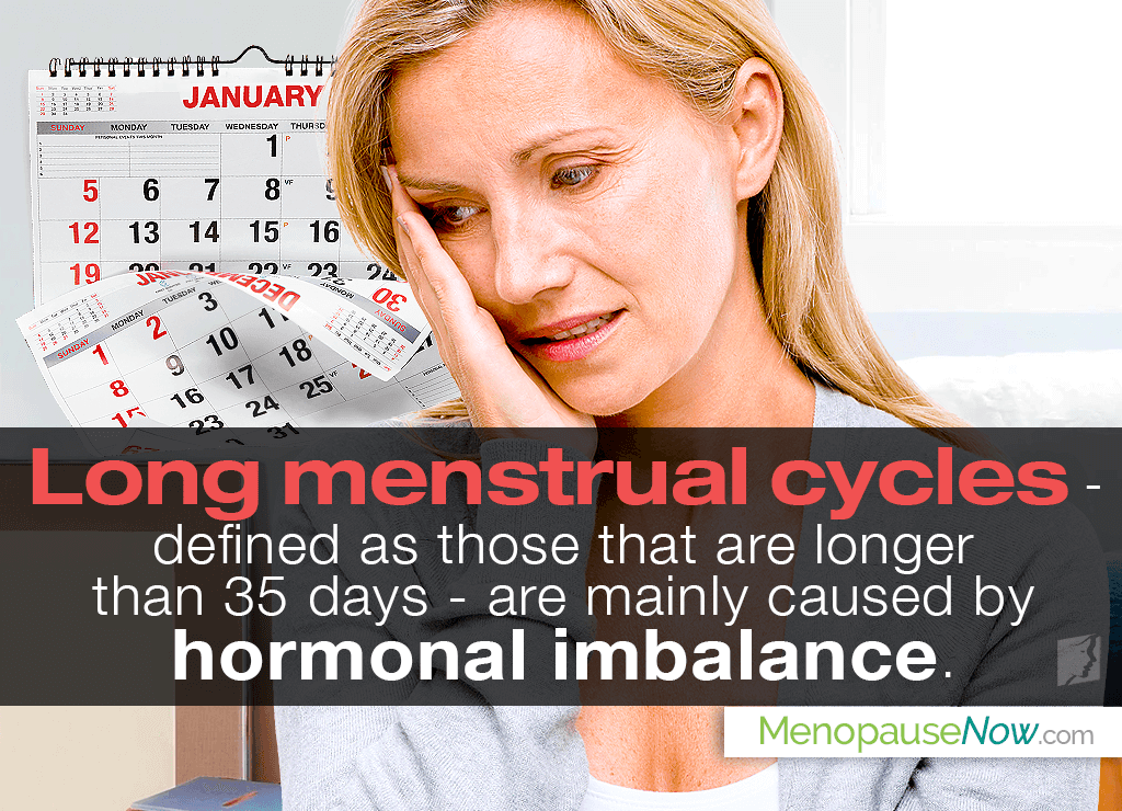 Many women experience long menstrual cycles, anywhere from 3 – 10 years before menopause