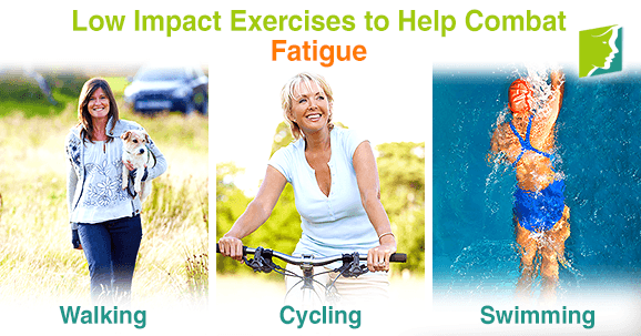 Low impact exercises to help combat fatigue