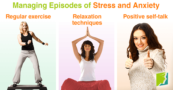 Managing episodes of stress and anxiety.