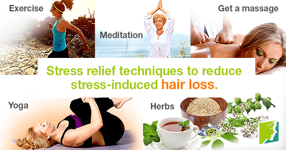 Stress relief techniques to reduce stress-induced hair loss