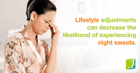 Lifestyle adjustments can decrease the likelihood of experiencing night sweats