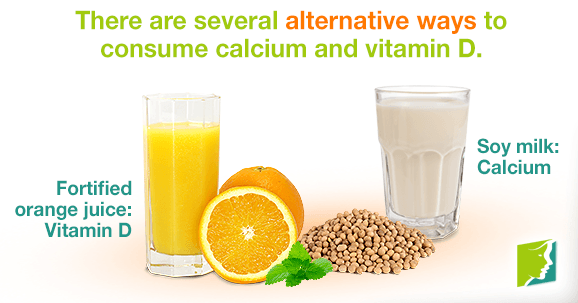 There are several alternative ways to consume calcium and vitamin D.